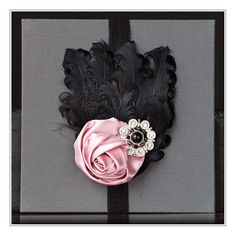Elegant Black Curly Feathered Headband with A by thelittleblackHAT, $18.00