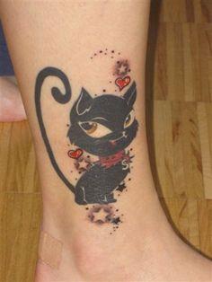 Tattoo-Foto: Muzerl Cat Paw Print, Best Tattoo Designs, Cat Paws, Paw Prints, Cat Tattoo, Tatoos, Beautiful People, Hair Makeup, Tatuajes
