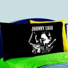 Mz3-johnny Cash Rock Guitar Pillow Case For Bed Bedding