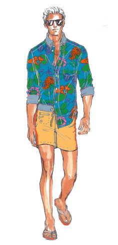 Get a unique insight into our new #SurfShack collection as we reveal the sketches that started it all...