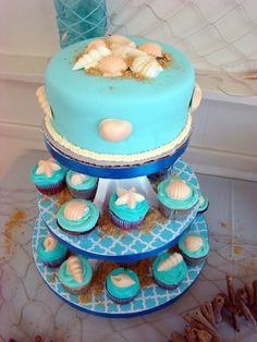 Pretty under the sea cake