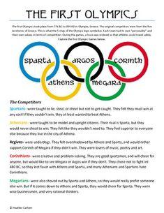 How It All Began Ooh Historia Ancient Olympics