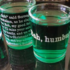 Scrooges Shot Glass Set $12.00