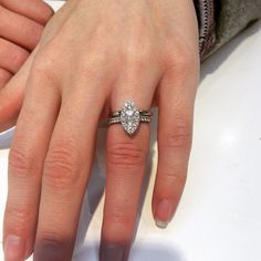 Another happy customer whose engagement ring we did picking up her wedding band yesterday