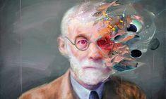 Sigmund Freud by Mathieu Laca Sigmund Freud, Psychology Wallpaper, Mental Health Art, Marilyn Monroe Art, A Level Art, Abstract Portrait, Vincent Van Gogh, Art Therapy, Photo Art