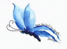 Butterfly Blue Tattoo ideas on pinterest key tattoos butterfly ...