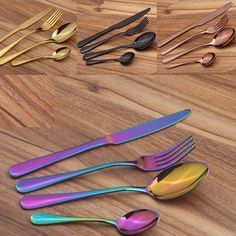 4pcs Stainless Steel Colorful Cutlery Set Christmas, light up wall decor, light pink decor, decorative light bulbs ideas xmas, xmas goodie, xmas crafts diy decoration #xmasgift #xmass #xmaslights, christmas decorations, thanksgiving games for family fun, diy christmas decorations Stainless Steel Cutlery, Stainless Steel Material, Silver Cutlery, Flatware Set, Knife And Fork Set, Christmas Dinnerware, Western Food, Metal Engraving, Dinner Sets