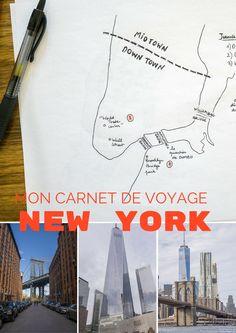 Mon carnet de voyages à New York, j'y ai passé trois jours, je le raconte en récits, en cartes et en photos
