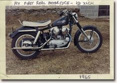 Harley-Davidson Sportster.   It is seen here with a dual carb kit,   a fixture that the owner confesses did not   make much difference.