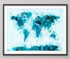 Duck Egg Blue Marble Abstract Art on CANVAS WALL ART Picture Print A4 A1 A2