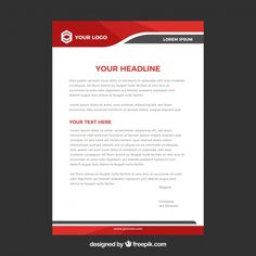 Letterhead template in flat style Free Vector Page Layout Design, Web Design, App Ui Design, Brochure Design, Design Ideas, Letterhead Sample, Free Letterhead Templates, Letterhead Design, Instagram Frame
