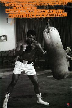 Muhammad Ali Punching Bag Poster