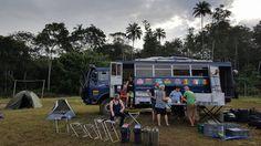Bush camp en route between Liberia and Guinea in November 2015 (photo from passenger Adam Wilson) Overland Truck, Liberia, November 2015, West Africa, Recreational Vehicles, Camping, Campsite, Camper Van, Outdoor Camping