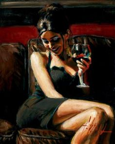 Tess VII a limited edition print by Fabian Perez