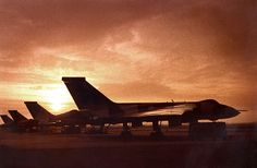 Four RAF 50 Sqn Avro Vulcans on the ORP at RAE Bedford in 1977 or 1978
