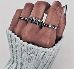 Adoro este tipo de anillos •