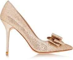 Lucy Choi London Rose bow-embellished glitter-finished pumps on shopstyle.co.uk