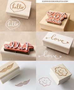 Custom rubber stamps from EatPrayCreate!
