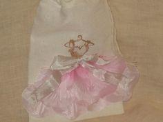 Muslin Wedding Shower Party Favor Gift Bag by VintageParisMarket