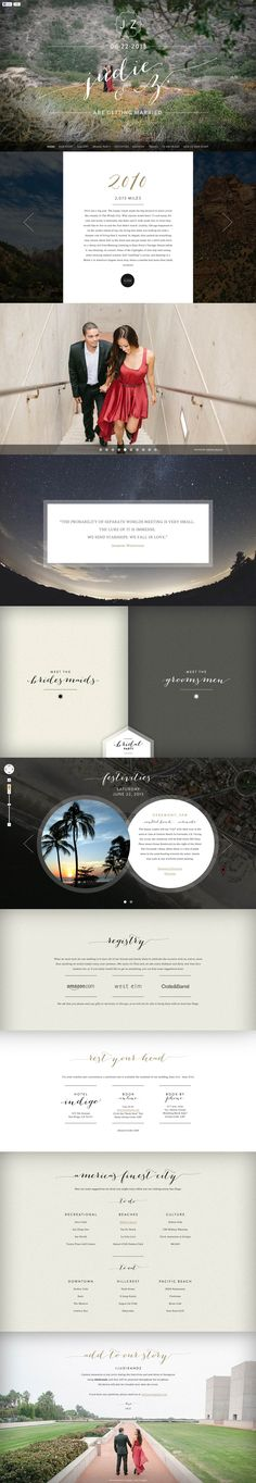 """Some great elements in this wedding one pager for """"Judie & Z"""". Quite like this mix of font overlayed on the quality images - especially like that choice of the last image. Only crit is the cut off site on bigger monitors, so best viewed on your 1280px screens."""