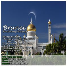 3 DAYS BRUNEI BREAKAWAY PACKAGE (With Roundtrip Economy Airfare) Minimum of 2 persons  For more inquiries please call: Landline: (+63 2)282-6848 Mobile: (+63) 918-238-9506 or Email us: info@travelph.com #Brunei #TravelPH #TravelWithNoWorries Batanes, Travel Agency, Brunei, Manila, Lodges, Taj Mahal, Packaging, Tours, City