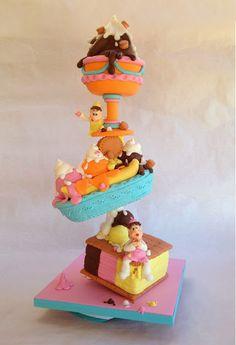 Puckycakes: Cake: Ice Cream Party by puckycakes