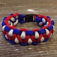 Bracelet paracorde 19 cm, bracelet de survie tricolore