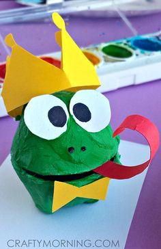 Egg Carton Frog Prince Craft for Kids - Crafty Morning