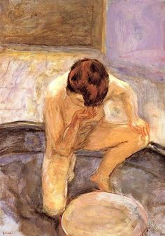 Pierre Bonnard - Crouching Woman or Nude at the Tub