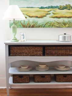 Create A Buffet With Basket Storage