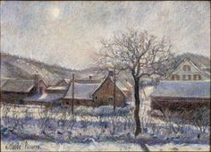 Camille Pissarro (French, 1830-1903), Neige à Critiqueville-Saint Leger, n.d. Color pastel, 36.5 x 49.2 cm