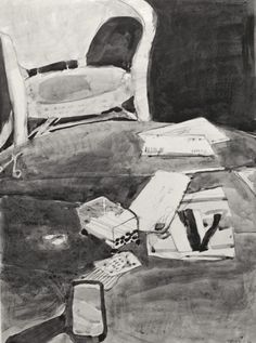 Richard Diebenkorn's Ink-Wash Drawings – Drawing OWU Richard Diebenkorn, Chair Drawing, Painting & Drawing, Still Life Drawing, House Drawing, Ink Wash, Mondrian, Drawing Techniques, Rembrandt