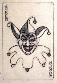 this would be a nice small piece.   -Jerry Robinson's original Joker card sketch