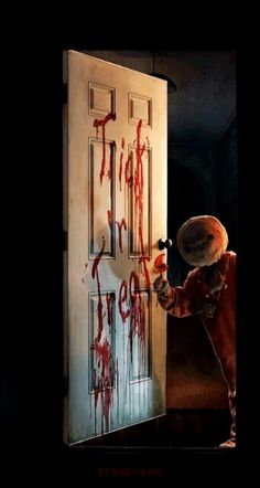 TRICK 'R' TREAT Halloween Movies, Halloween Horror, Scary Movies, Halloween Art, Horror Movies, Halloween Stuff, Creepy Clown, Creepy Art, Arte Horror