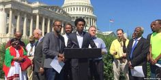 """Top News: """"ETHIOPIA: Feyisa Lelisa Ethiopian Runner Urges US Lawmakers To Tackle Human Rights Issues In Ethiopia"""" - http://politicoscope.com/wp-content/uploads/2016/09/Feyisa-Lelisa-makes-remarks-in-Washington-D.C.-in-September-2016.-The-Olympic-silver-medalist-from-Ethiopia-challenged-Congress-to-recognize-more-freedoms-are-possible-in-his-home-country.-790x395.jpg - Ethiopian runner Feyisa Lelisa says: Ethiopian people are """"peace-loving, but they have been denied peace fo"""