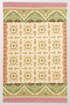 Floral Fresco Rug in Sand {Anthropologie}