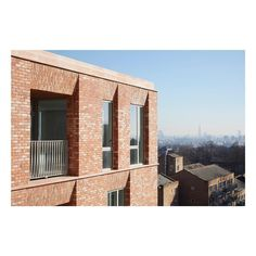 Image 6 of 24 from gallery of Belle Vue Senior Residence / Morris+Company. Photograph by Jack Hobhouse Green Facade, Brick Facade, Brick Houses, Soho, Brick Detail, Big Building, Brick Texture, Brick Architecture, Morris