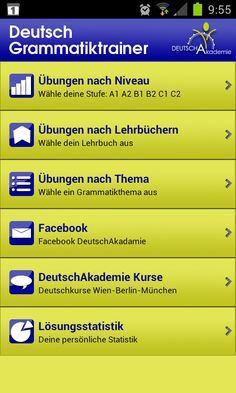 Practise your German with this free app for android/i-Phone/i-Pad - more… Foreign Language Teaching, German Language Learning, Classroom Language, Grammar Quotes, German Resources, Germany Language, Grammar Exercises, German Grammar, Languages Online