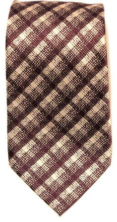 $240 NWT Tom Ford Mens 100% Silk Neck Tie Purple Gold Plaid Made in Italy #TomFord #NeckTie