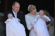 HSH Prince Albert II of Monaco, HRH Princess Gabriella of Monaco, HRH Prince Jacques of Monaco and HSH Princess Charlene of Monaco attend The Baptism Of The Princely Children at The Monaco Cathedral on May 10, 2015 in Monaco, Monaco. (Photo : Pascal Le Segretain/Getty Images)