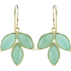 Irene Neuwirth Chrysoprase Marquis Earrings - $1,560 - so stunningly simple