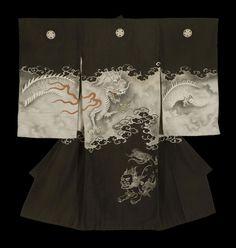 Boy's Anointment Kimono. Meiji period (1868-1911), Japan. The Kimono Gallery.