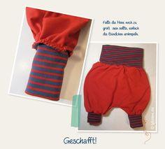 kostenloser Schnitt für eine Baby Pumphose