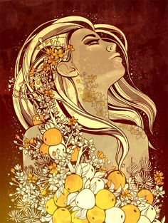 Iðunn: She is a goddess who associated with apples and youth (was known as a Keeper of the Golden Apples). by SFHD