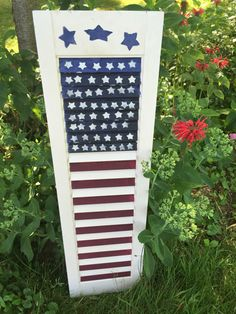 Upcycled repurposed recycled American flag by TossedTreasureArt