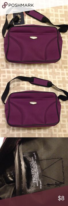 Protocol Carry On Bag Purple carry on bag. Never used. Zipper closure. Protocol Bags Travel Bags