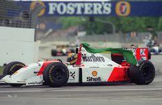 Ayrton Senna wins the Australian Grand Prix, Adelaide street circuit, 1993