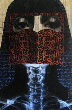 Ava (2009). Mixed media on canvas. Ayad Alkadhi.