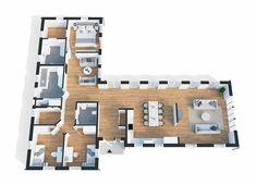 Scandinavian Interior Design, Living Room Kitchen, Interior Inspiration, Tiny House, House Plans, Sweet Home, New Homes, Floor Plans, Exterior