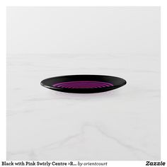 Black with Pink Swirly Centre >Round Trinket Trays Creative Walls, Trays, Centre, Pink, Black, Design, Black People, Pink Hair